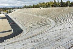 ATHÈNES, GRÈCE - 20 JANVIER 2017 : Vue étonnante de stade ou de kallimarmaro de Panathenaic à Athènes Images libres de droits