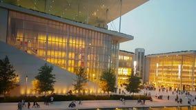Athènes, Grèce le 10 septembre 2017 Architecture de Stavros Niarchos de construction moderne en Grèce banque de vidéos