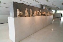 Athènes, Grèce - 15 novembre 2017 : Vue intérieure du nouveau musée d'Acropole à Athènes Conçu par le Suisse-français Photos libres de droits