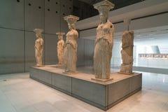 Athènes, Grèce - 15 novembre 2017 : Vue intérieure du nouveau musée d'Acropole à Athènes Conçu par le Suisse-français Image libre de droits