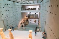 Athènes, Grèce - 15 novembre 2017 : Vue intérieure du nouveau musée d'Acropole à Athènes Conçu par le Suisse-français Photographie stock