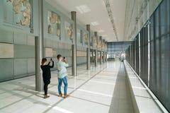 Athènes, Grèce - 15 novembre 2017 : Vue intérieure du nouveau musée d'Acropole à Athènes Conçu par le Suisse-français Image stock