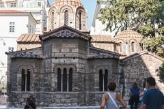 ATHÈNES, GRÈCE - 16 SEPTEMBRE 2018 : Église de Panaghia Kapnikarea à Athènes, Attique, Grèce photographie stock libre de droits