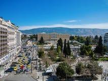 Athènes, Grèce, 03 03 2018 : Vue de ville d'Athènes avec la colline de Lycabettus à l'arrière-plan vue de ville d'Athènes avec le Image libre de droits