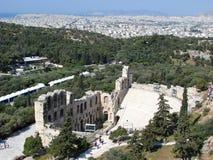 Athènes, Odeon d'Atticus de Herodes Image libre de droits