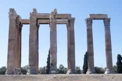 Athènes - temple de Zeus Photographie stock libre de droits