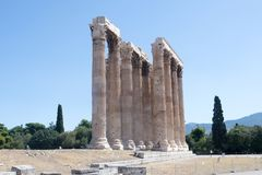 Athènes, temple de Zeus Photos libres de droits