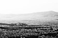 Athènes vu de Ymithos Image libre de droits