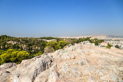 Athènes. Vue d'Areopagus Image stock