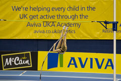 ATH: Aviva Indoor Athletics Stock Photo