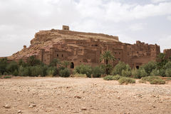 Ait Ben Haddou. A fortified city, or ksar, along the former caravan route between the Sahara and Marrakech in present day Morocco royalty free stock photo