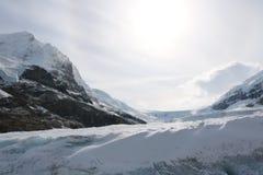 Athabasca冰川冒险 库存照片