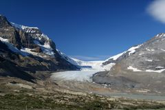 athabasca冰川 图库摄影