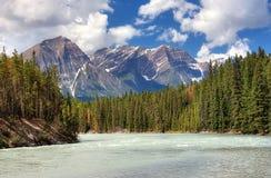 athabasca河 库存照片