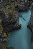 Athabasca fällt in Jaspis lizenzfreie stockfotos
