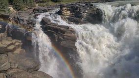 Athabasca fällt in Jaspis stockfoto