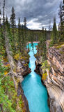 Athabasca Falls canyon. In Jasper National Park, Alberta, Canada royalty free stock image