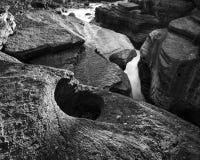 Athabasca Falls Canyon Royalty Free Stock Images