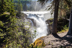 Athabasca Falls- Icefields Parkway- Jasper National Park- Alberta- CA Royalty Free Stock Photo