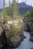 Athabasca Falls near Jasper in Canada Royalty Free Stock Photography
