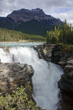 Athabasca Falls near Jasper in Canada Stock Photography
