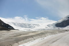 Athabasca Glacier. On Icefield Parkway in June stock image