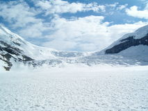 Athabasca Glacier. At Columbia Icefields royalty free stock images