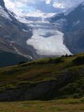 Athabasca Glacier. Part of the Columbia Icefield, Jasper National Park, Alberta, Canada Royalty Free Stock Photo