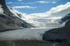 Athabasca Glacier. At the Columbia Icefields, Alberta royalty free stock image