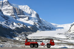 Athabasca Glacier, Columbia Icefield, Ice Explorer Royalty Free Stock Image