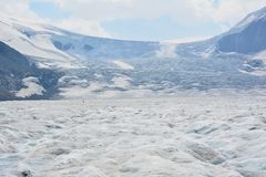 Athabasca glacier. Columbia icefields Jasper national park Canada Stock Photography