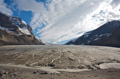 Athabasca Glacier in Jasper National Park Stock Photos