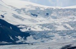 Athabasca Glacier in Jasper National Park Stock Images