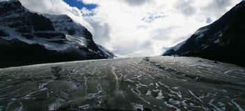 Athabasca Gletscher am Jaspis Stockbild