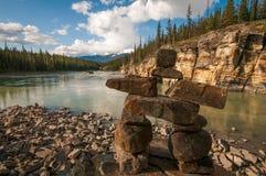 Athabasca Inukshuk Stock Image