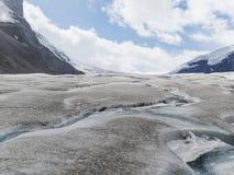Athabasca lodowiec przy Columbia icefield japser parkiem narodowym Fotografia Stock