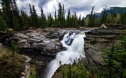 Athabasca nedgångar i Alberta, Kanada Arkivbild
