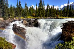 Athabasca River. Athabasca Falls in Alberta (Canada Stock Photos