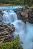 Athabasca River Falls,. Athabasca River Waterfalls in Jasper National Park, Alberta, Canada royalty free stock photography