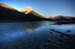 Athabasca River in Jasper. National Park Stock Photography
