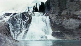Wapta Falls, Yoho, British Columbia, Canada. Wapta Falls, on the Kicking Horse River, Yoho National Park, British Columbia, Canada royalty free stock image