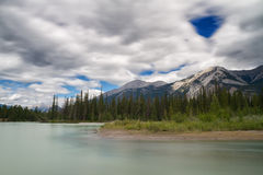 Athabasca river near Jasper Stock Images