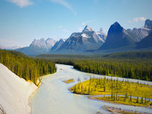 Athabasca River Rocky Mountains Jasper stock photos