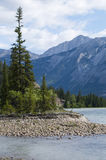 Athabasca River Scenic Stock Images