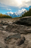 Athabasca Riverbed Royalty Free Stock Photography