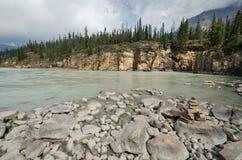 Athabasca Rzeka Obraz Stock