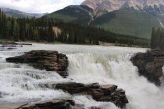 Athabasca Spadać w Jaspisie zdjęcia stock