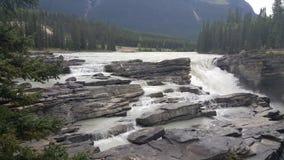 Athabasca Spadać w Jaspisie Zdjęcie Royalty Free