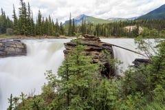 Athabasca vattenfall Fotografering för Bildbyråer