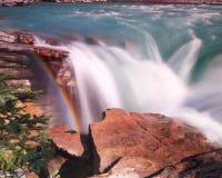 Athabasca vattenfall Alberta Canada Arkivfoton